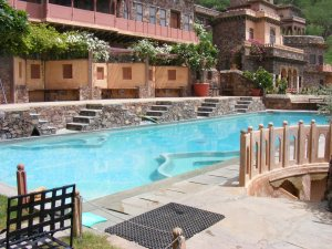 Cool Swimminng Pool at Neemrana Fort, Rajasthan