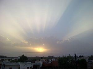 shivalik sunrise with wire