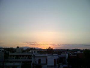 sunrise and hills