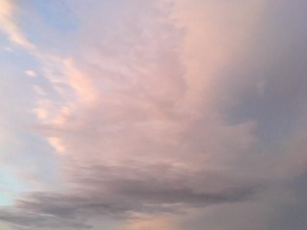 Clouds in the evening